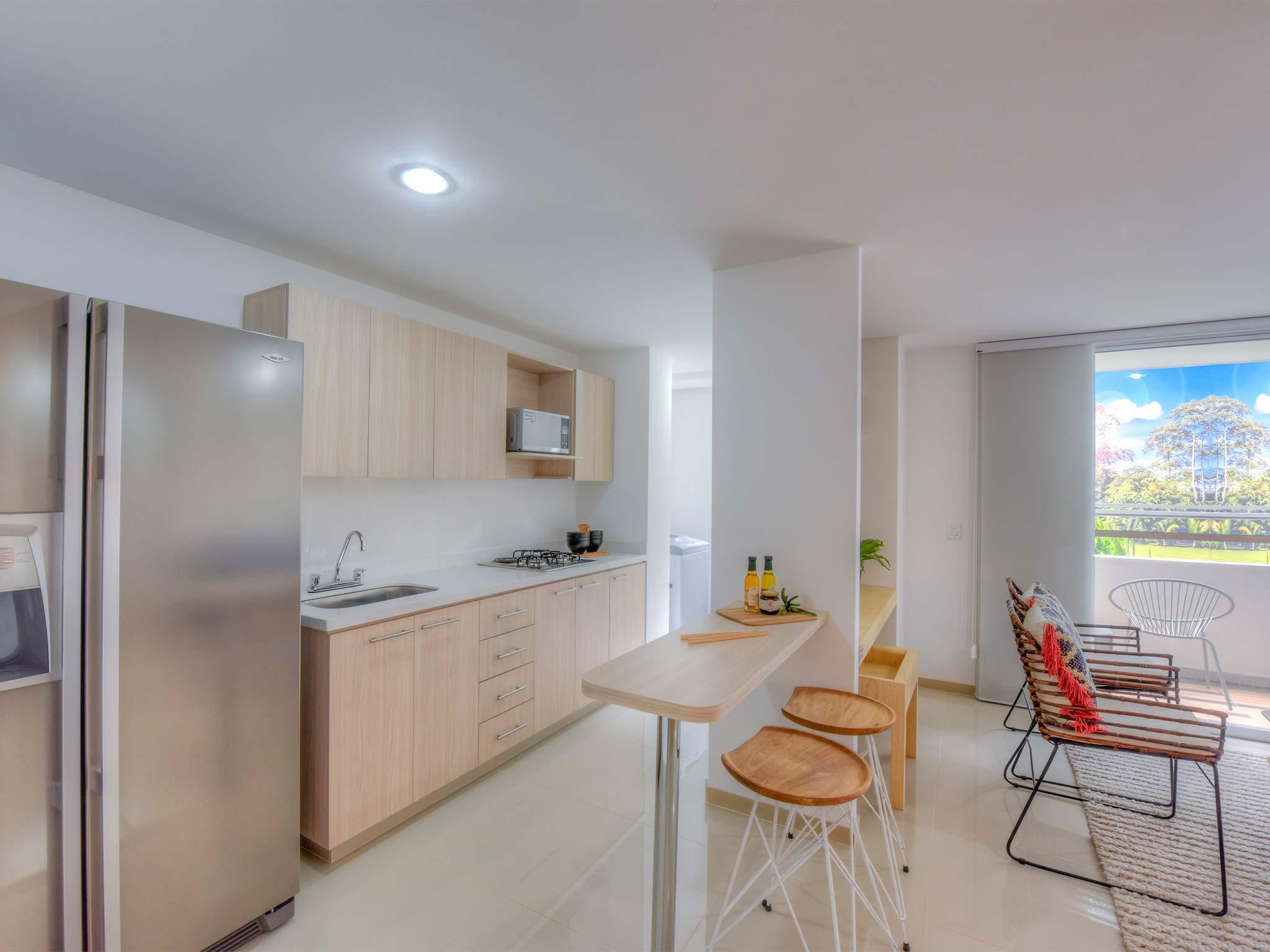 Fotos reserva del parque bienes bienes constructores for Apartamento modelo