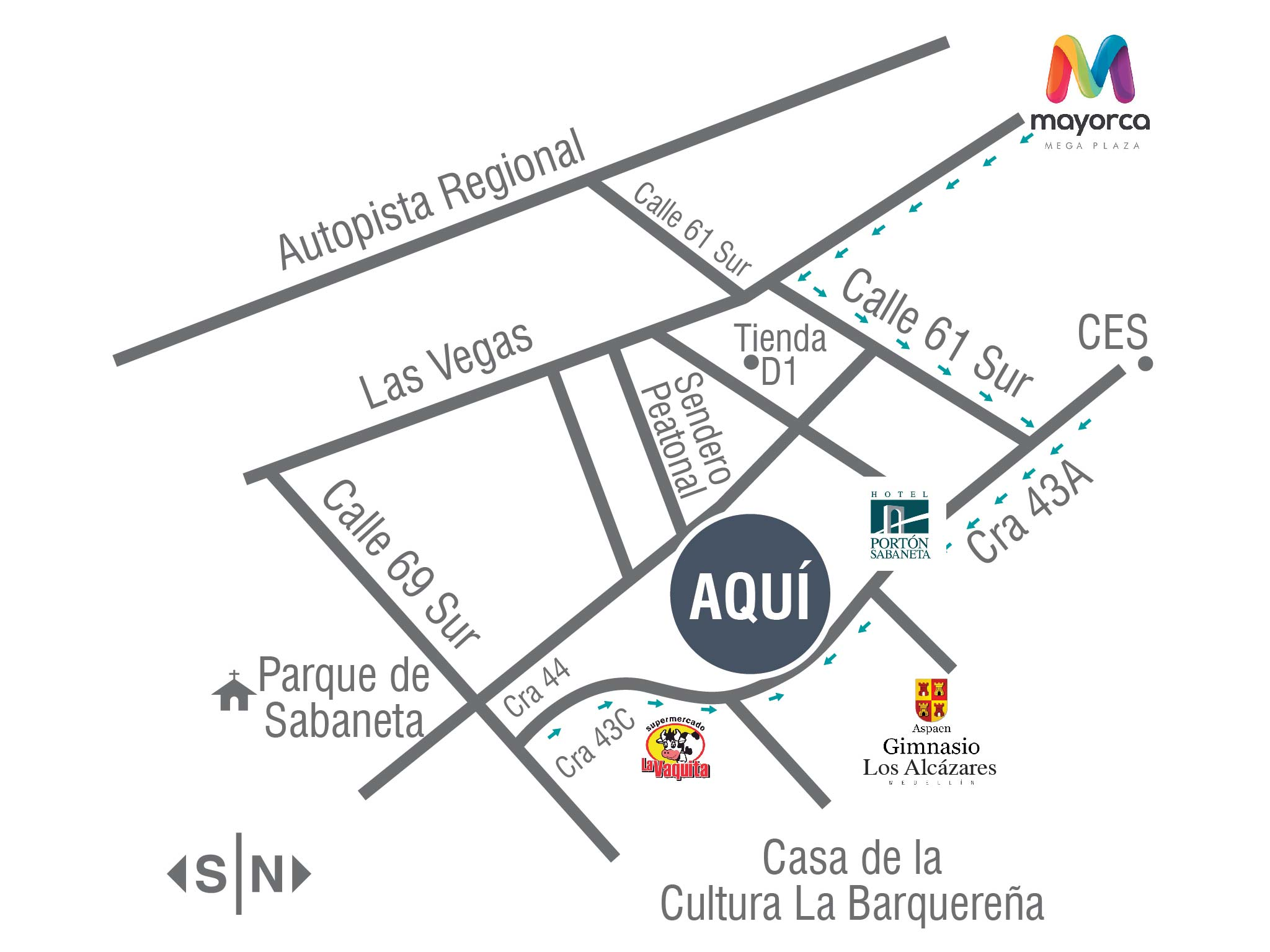 Ubicaci n del proyecto 43 oficinas y consultorios bienes for Ubicacion de las oficinas