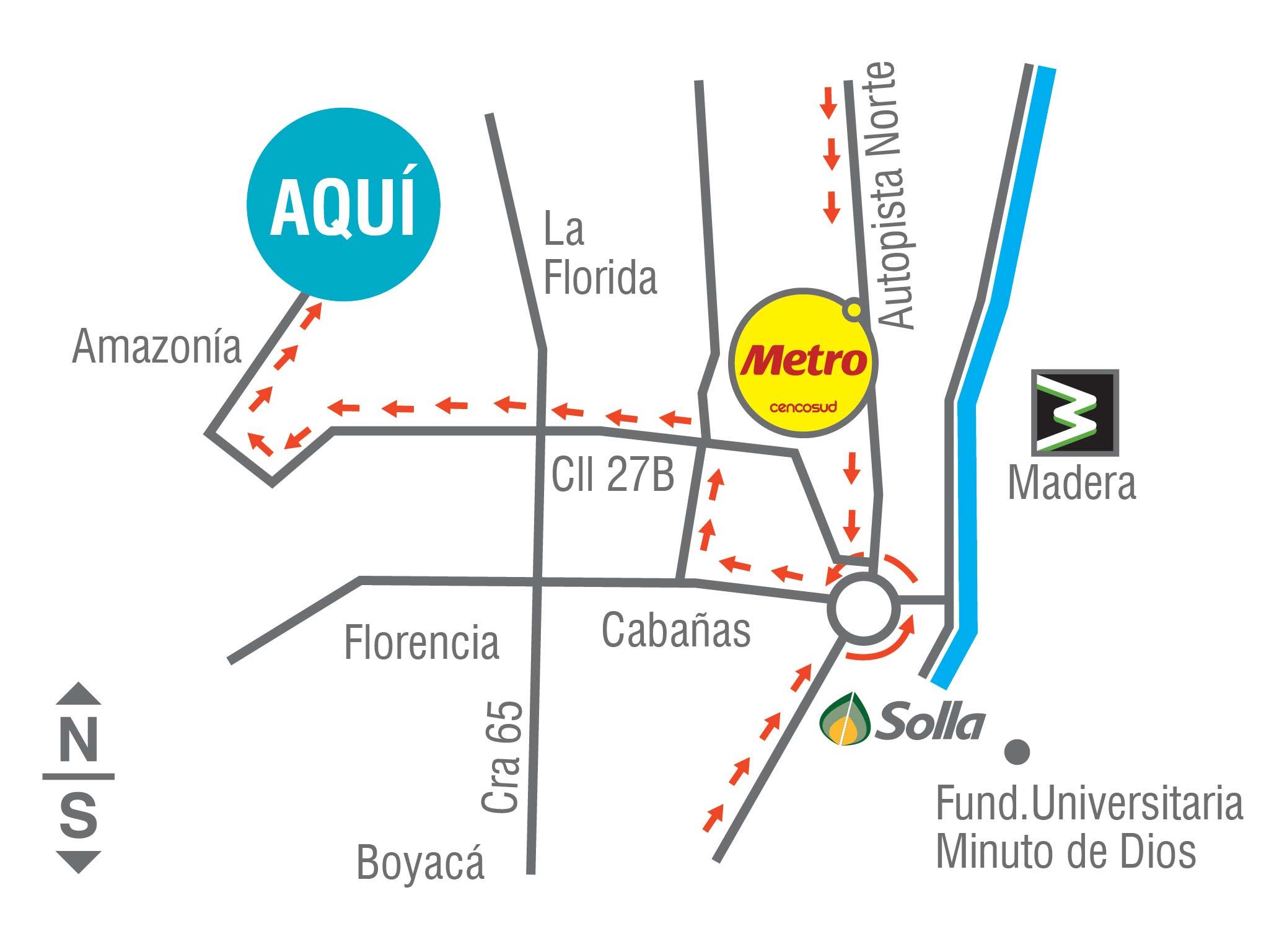 Mapa de Ubicación Camino del Viento