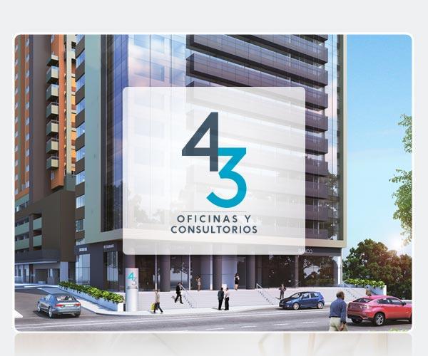 OFICINAS Y CONSULTORIOS EN SABANETA - PROYECTO 43